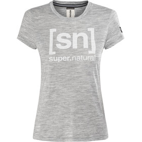 super.natural Essential I.D. Tee Women Ash Melange/Print
